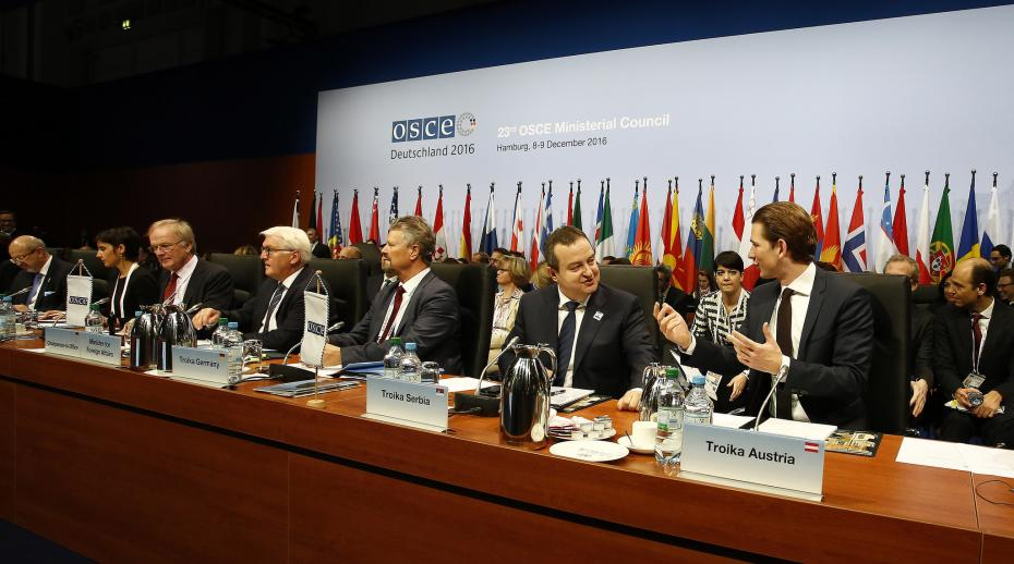 Participants at the 23rd OSCE Ministerial Conference held in Hamburg in December 2016