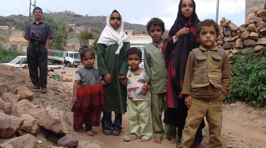 Children in al-Mahwit, Yemen