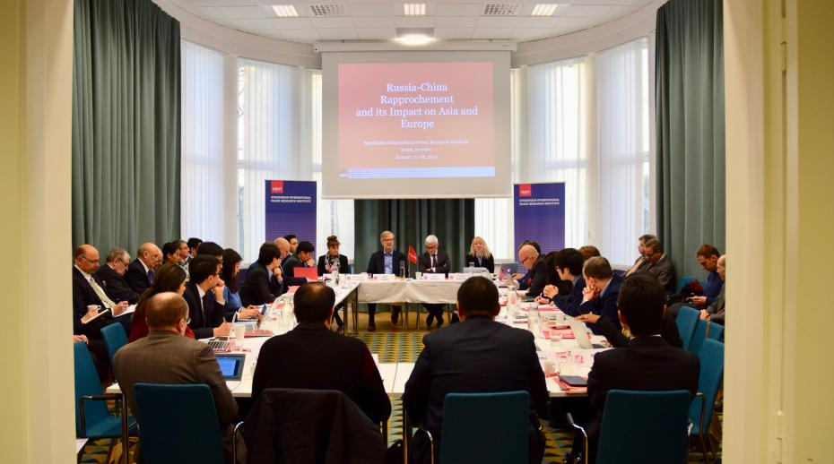 The opening of the Russia-China workshop held at SIPRI