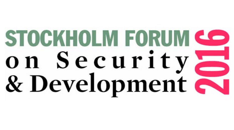 2016 Stockholm Forum on Security and Development logo