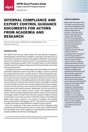 SIPRI Good Practice Guide: Export Control ICP Guidance Material no. 1