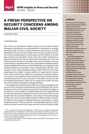 A fresh perspective on security concerns among Malian civil society
