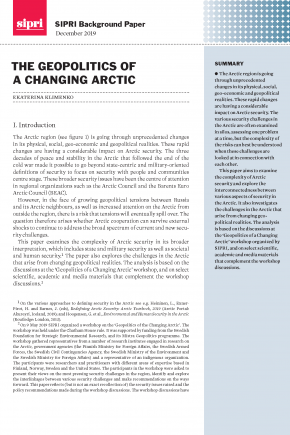 The geopolitics of a changing Arctic