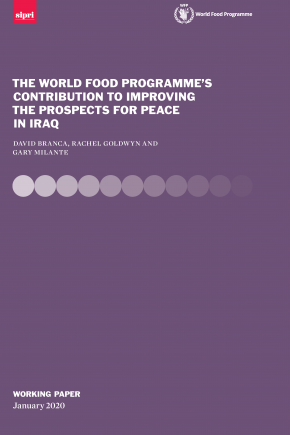 The World Food Programme's Contribution to Improving the Prospects for Peace in Iraq Cover