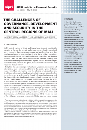 Cover The Challenges Of Governance, Development and Security in the Central Regions of Mali
