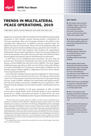 "Cover ""Trends in Multilateral Peace Operations, 2019"""