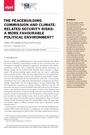 The Peacebuilding Commission and Climate-related Security Risks: A More Favourable Political Environment?