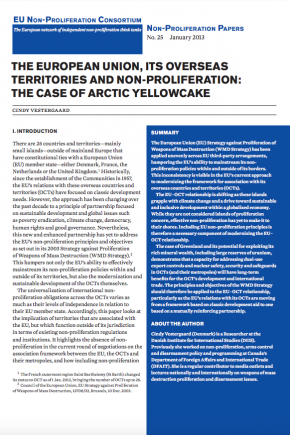 Non-proliferation Paper No. 25