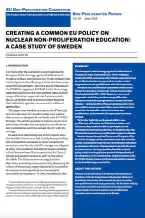 Non-proliferation Paper No. 29