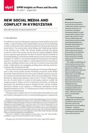New social media and conflict in Kyrgyzstan | SIPRI