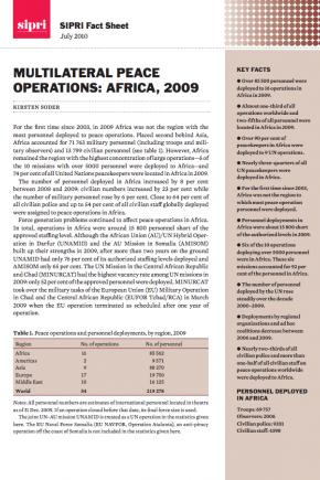 Multilateral peace operations: Africa, 2009