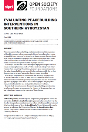 Evaluating peacebuilding interventions in southern Kyrgyzstan