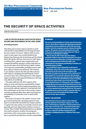 The security of space activities cover