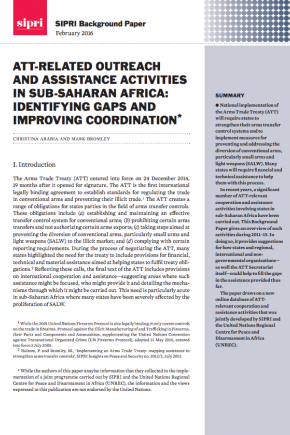 ATT-related outreach assistance in sub-Saharan Africa: identifying gaps and improving coordination