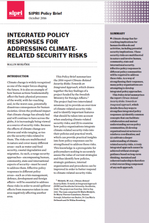 Integrated policy responses for addressing climate-related security risks
