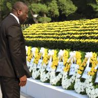 CTBTO Executive Secretary Lassina Zerbo at the Hiroshima Peace Ceremony, 6 August 2015. Photo: Flickr/CTBTO and City of Hiroshima